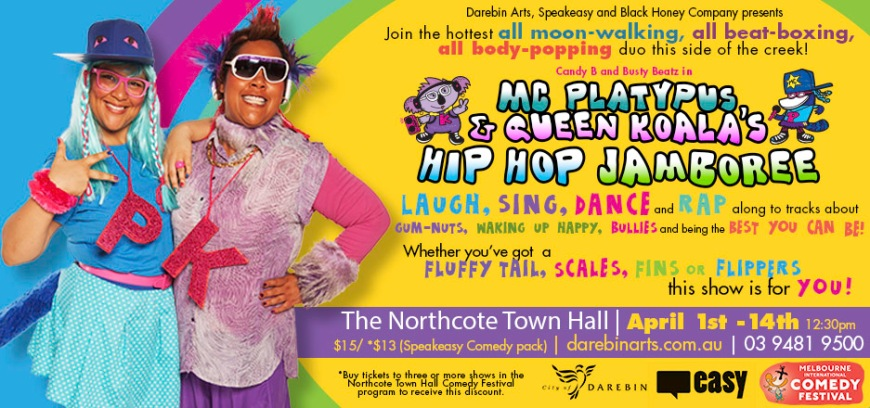 MC Platypus Queen Koala Hip Hop Jamboree